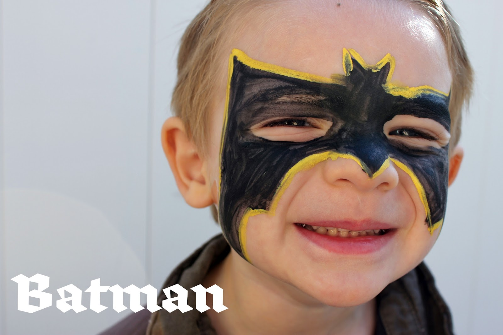 Batman Face Paint Design Painting And An Easter