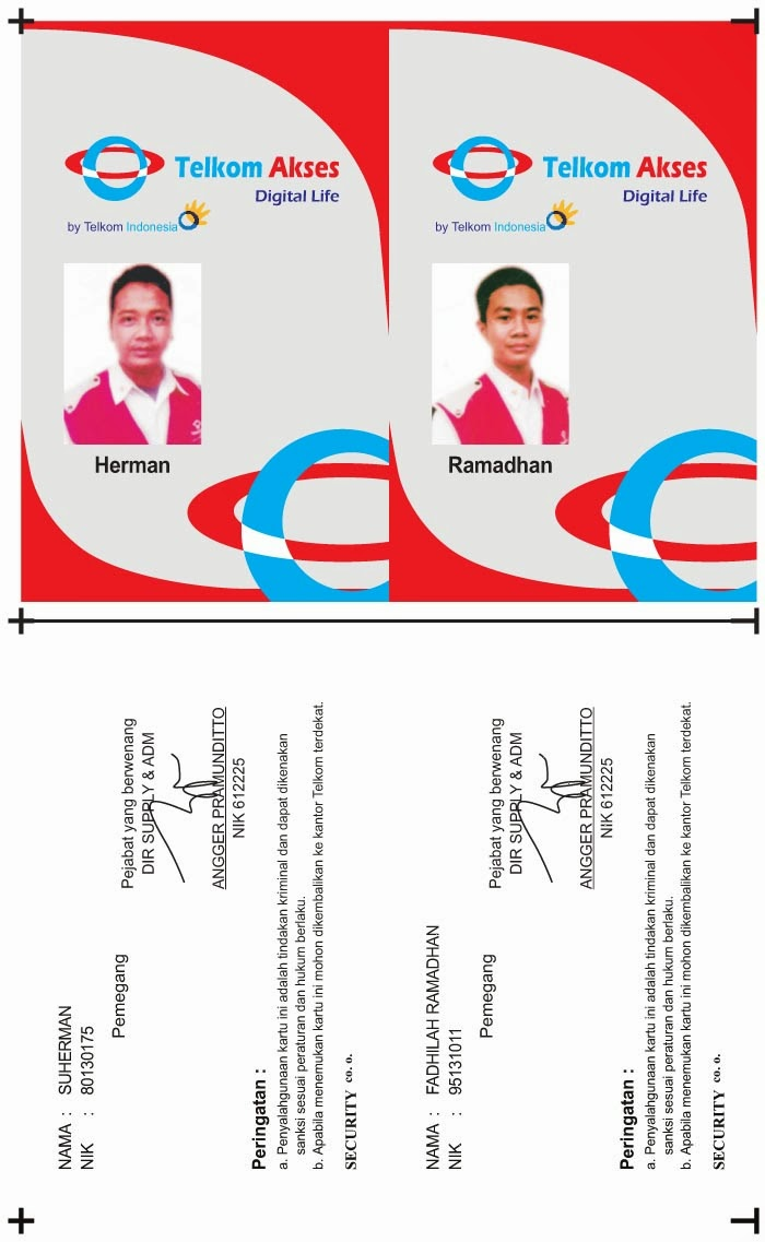 Design And Advertising Id Card Telkom Akses