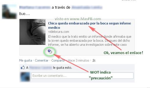 SPAM Facebook desde VideLocura.com