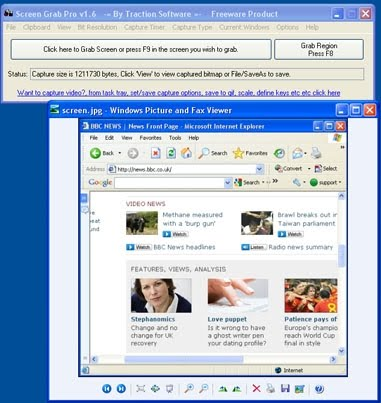 how to take a screen grab on a pc