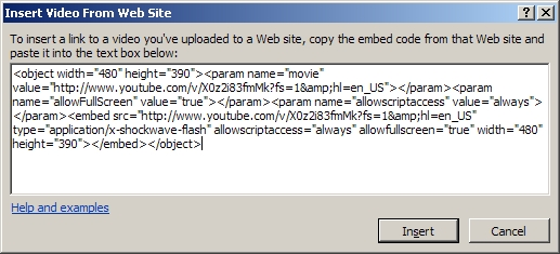 how to get an embedded code on youtube