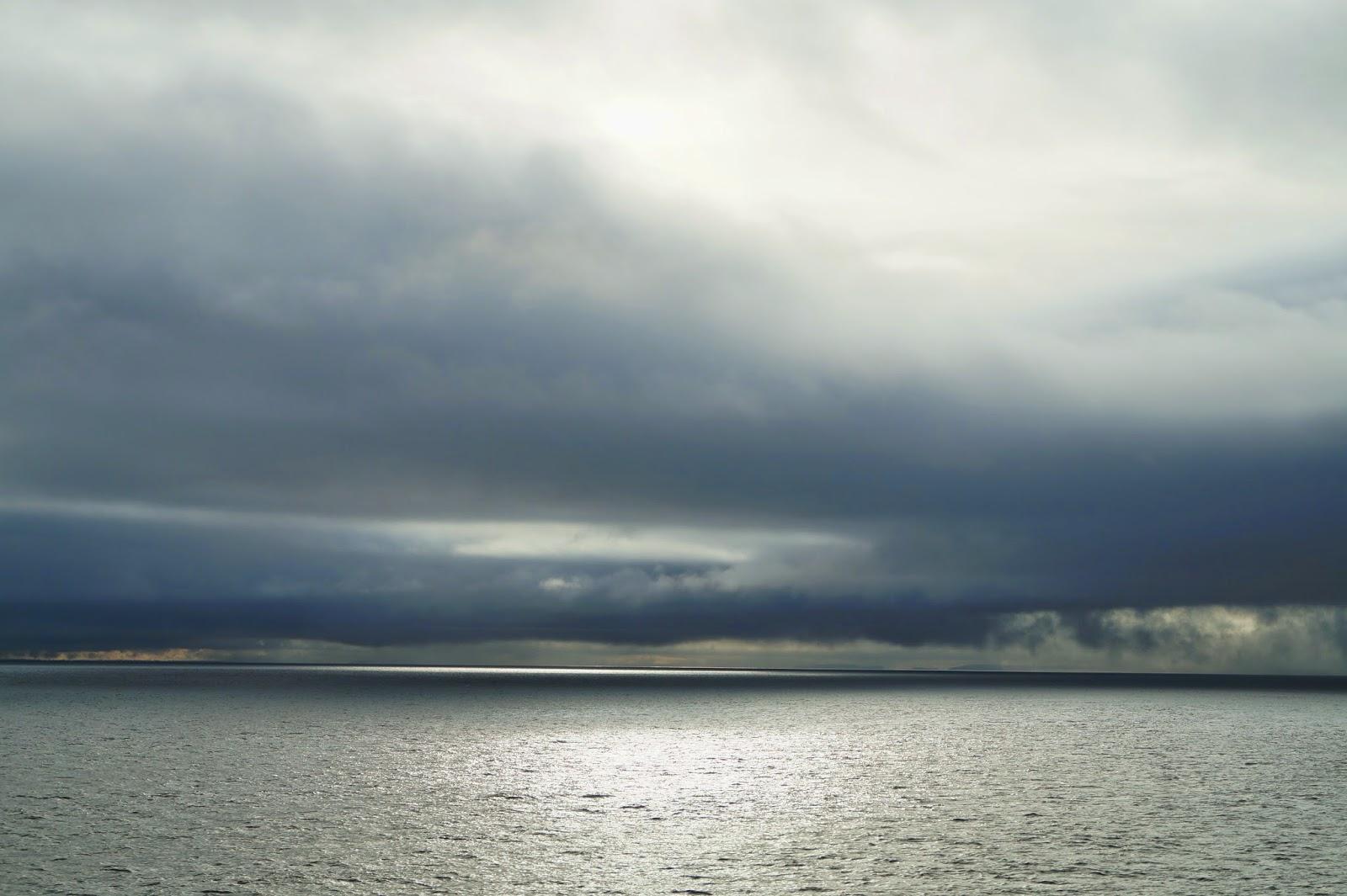 вид на океан с парома