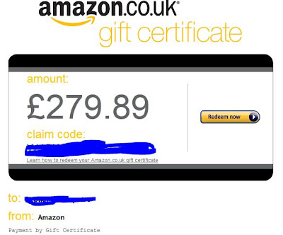 WTS Amazon Gift Card - AGC UK Hasil Affiliasi