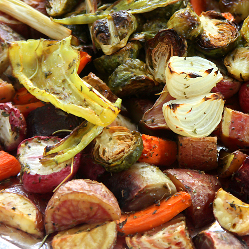 Roasted Vegetables with Polenta - Fall Recipe