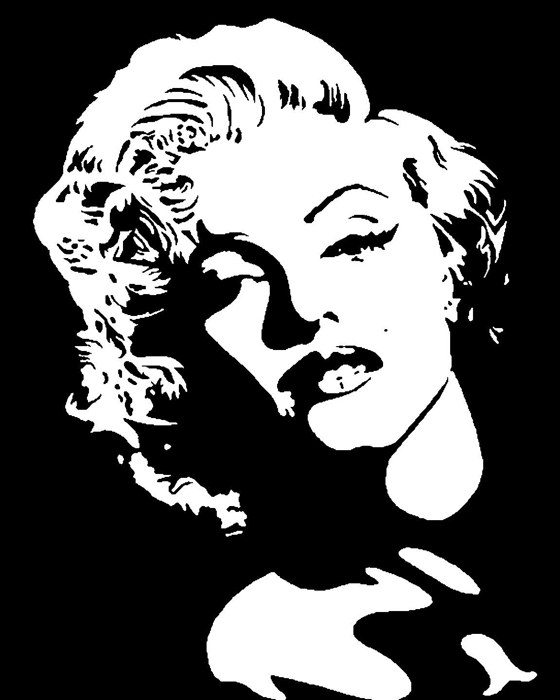 ... And White Outline also with marilyn monroe coloring pages to print