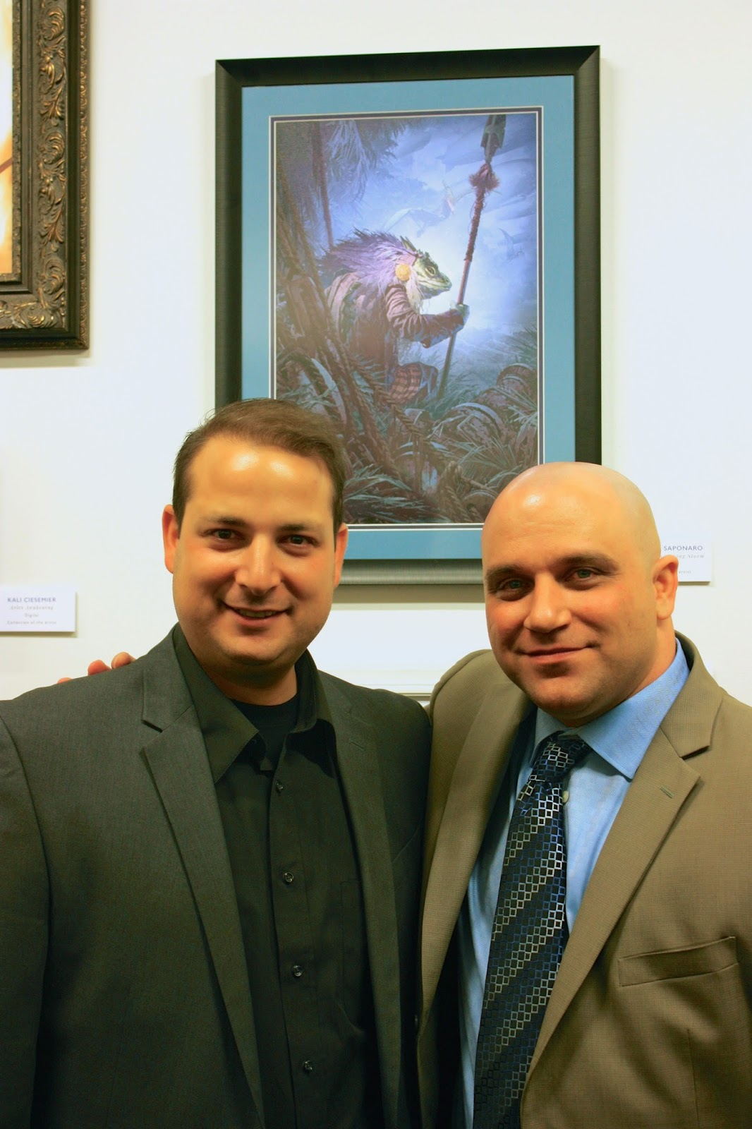 Dominick Saponaro and Matthew Kalamidas Society of Illustrators Reception