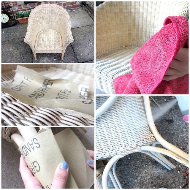 spray_painting_a_wicker_chair