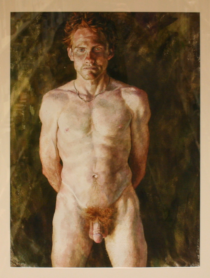 Male nude with red hair