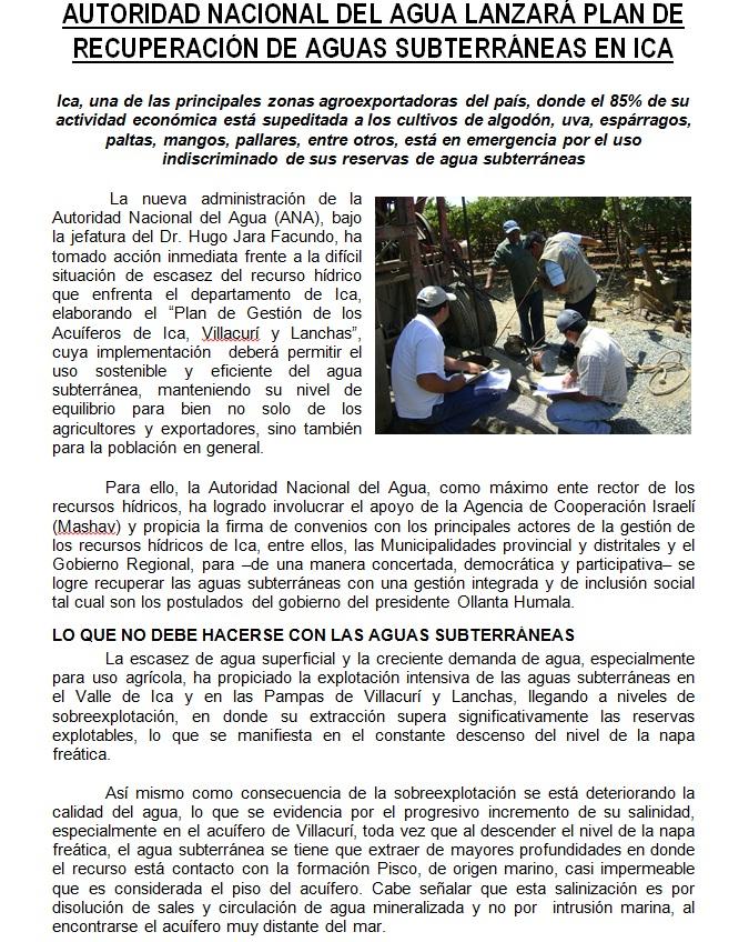 Autoridad administrativa del agua chaparra chincha ana for Oficina gestion ica