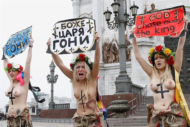 De Los Derechos Las Mujeres Protesta La Femen