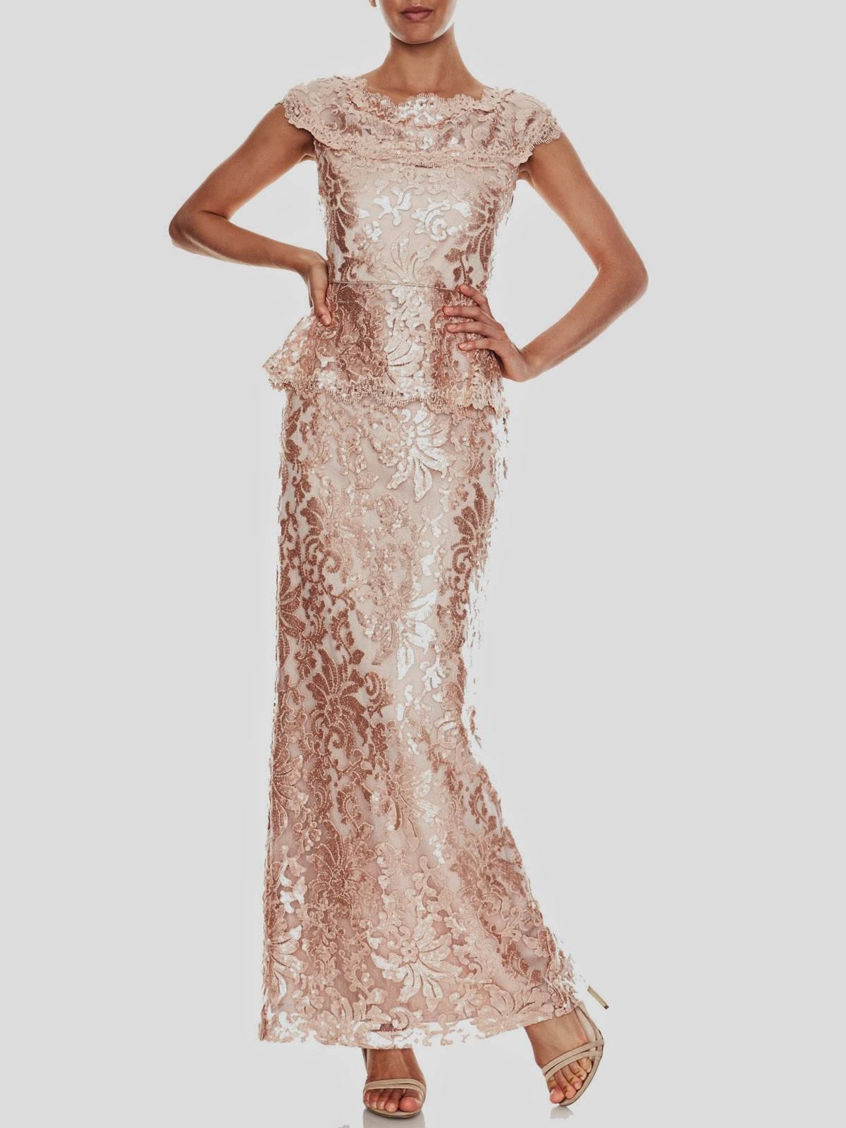 Angie Sequin Lace Gown