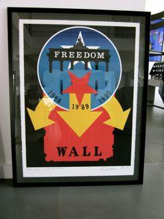 ROBERT INDIANA.THE WALL,1990.Lithographie en couleurs et gaufrage.Signée,datée et numérotée 62/100.
