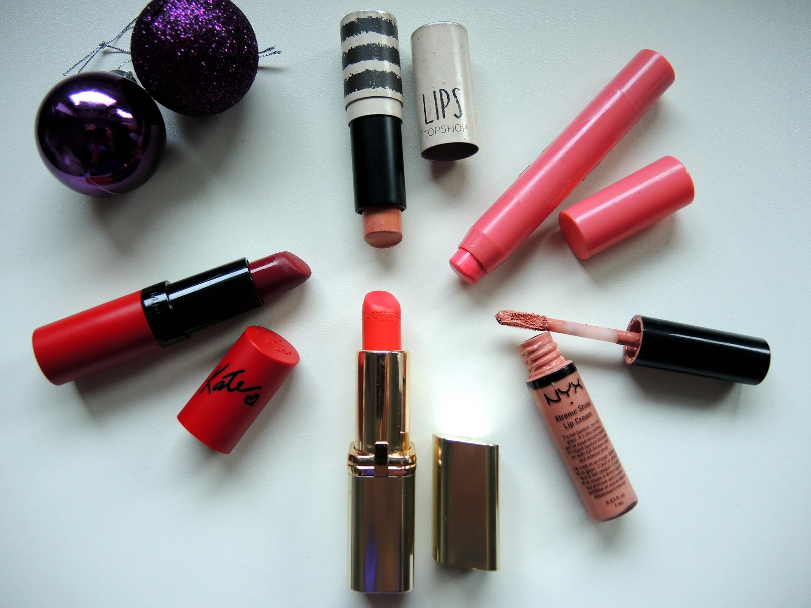 Top 5 Most Worn High Street Lipsticks | NYX, Rimmel, Topshop, L'Oreal