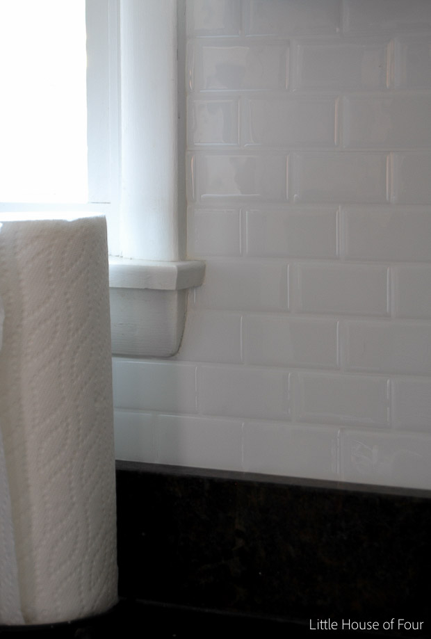 Kitchen Update!} Smart Tile Backsplash | Little House of Four ...