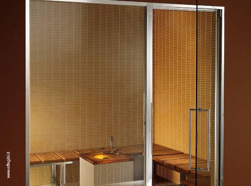 Ducha Con Baño Turco: de aluminio y cristal o acrílico, interior con azulejos y acrílico