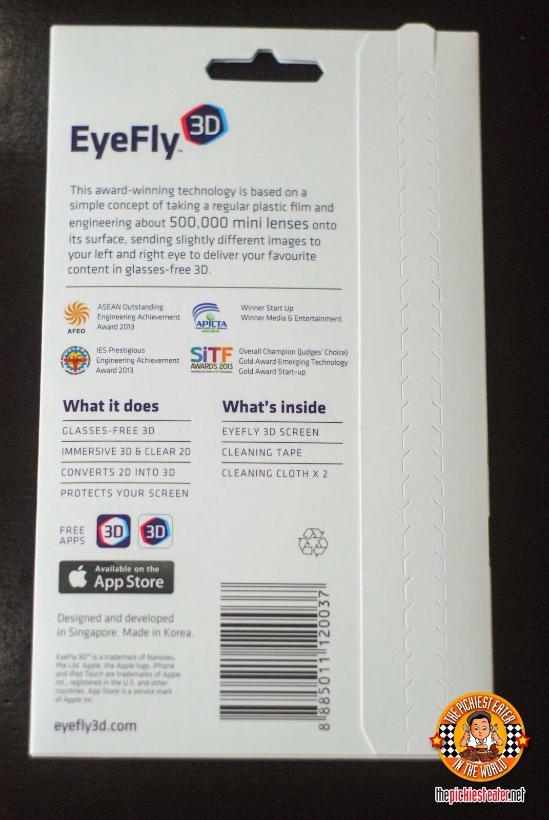 eyefly 3d back package