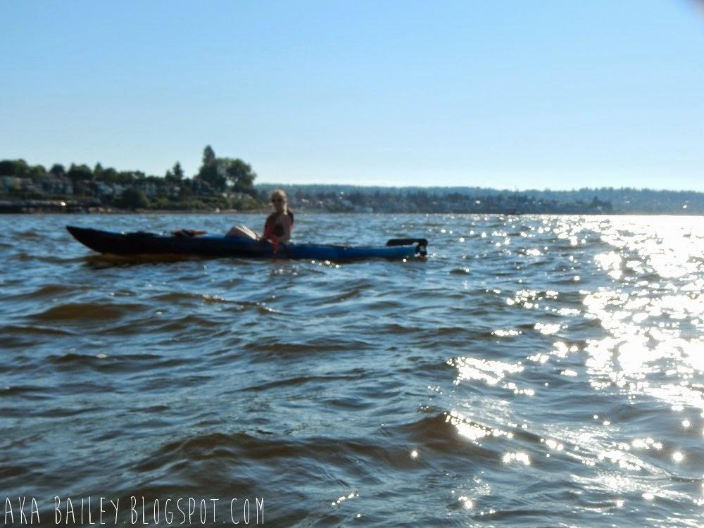 Kayaking in English Bay in Vancouver