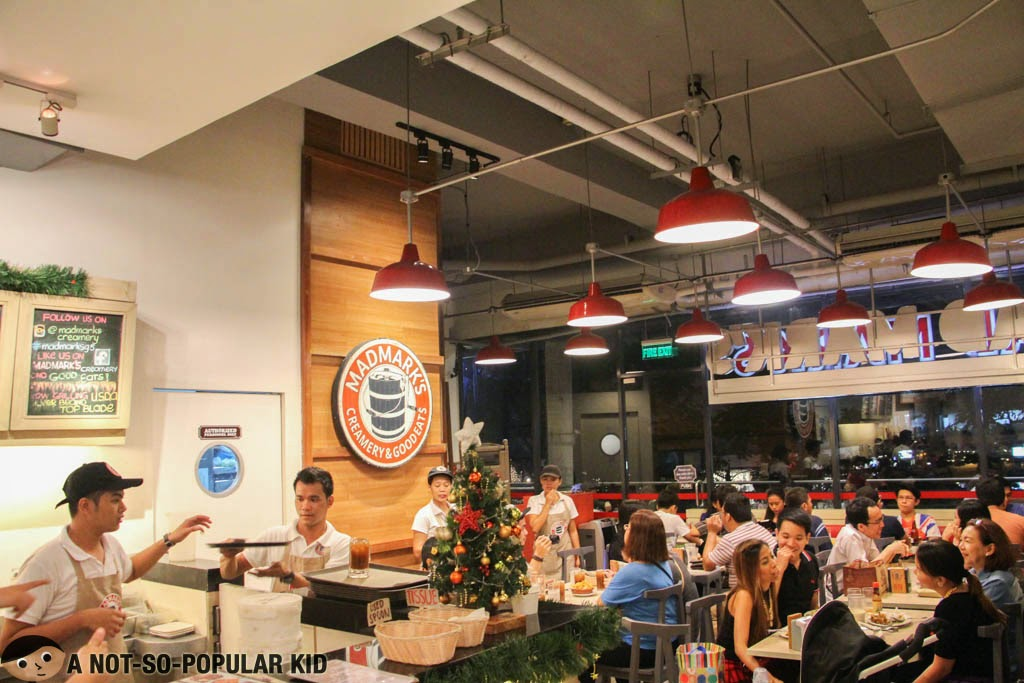 Mad Mark's not-so-spacious interior in the Glorietta Branch