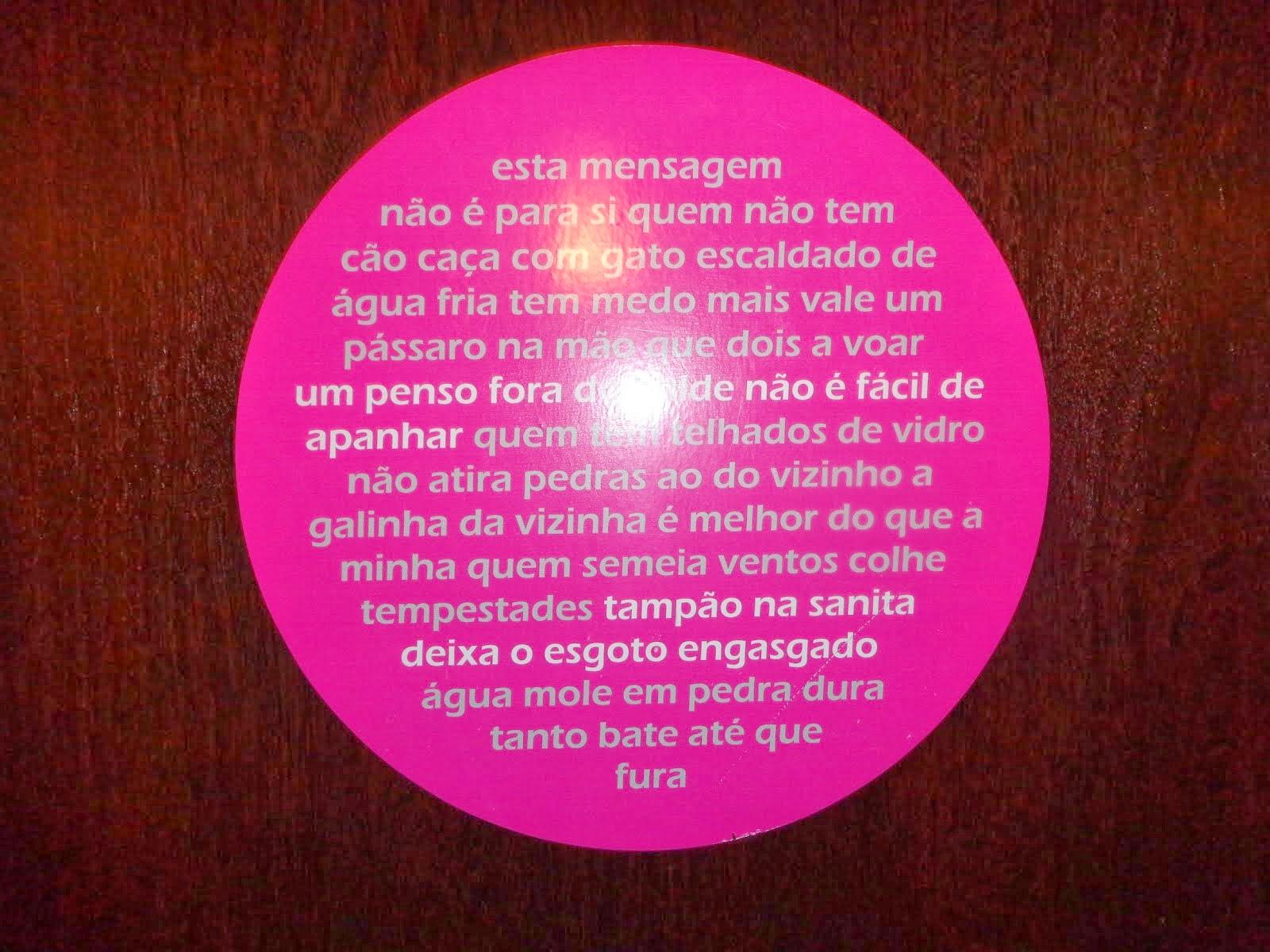 Provérbios de WC