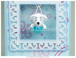Three-dimensional quilled puppy