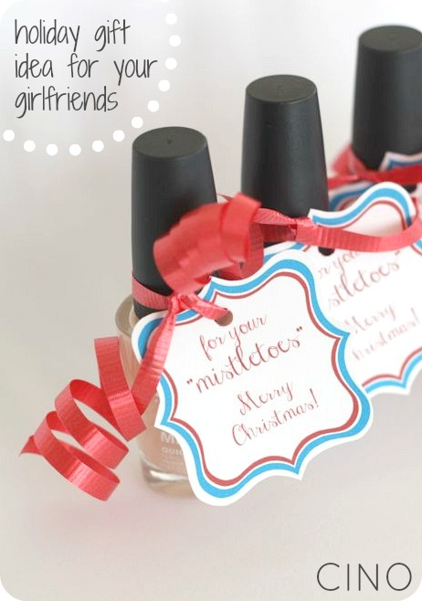 Mistletoes Nail Polish Gift Idea