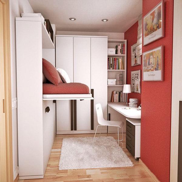дизайн маленькой комнаты для подростка фото кровать трансформер