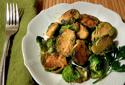 Plate of Maple Mustard Brussels Sprouts