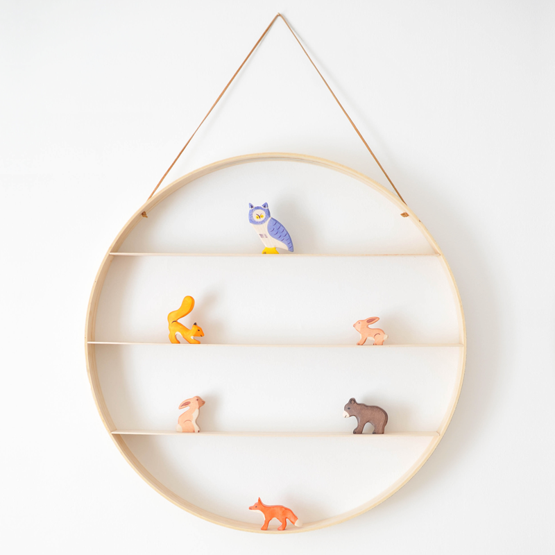 circular wooden shelf 2