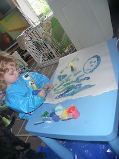 Painting toddler style