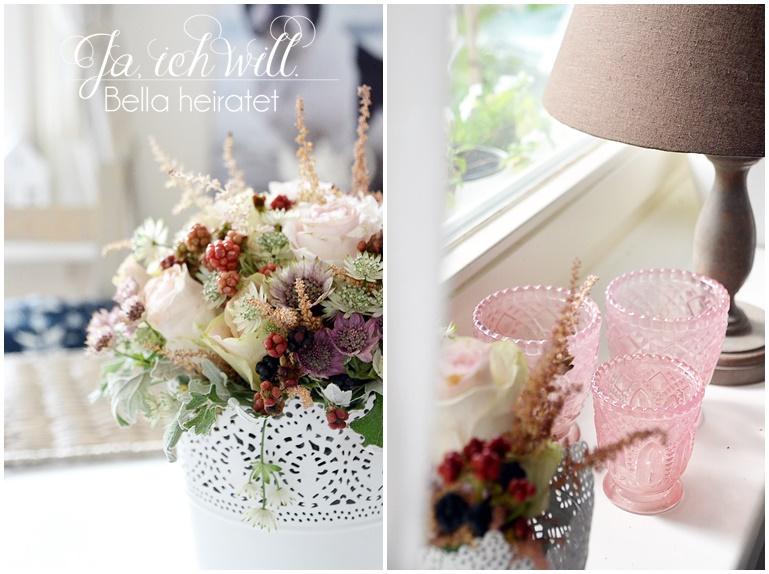 Blumenstrauß Hochzeit Brombeeren
