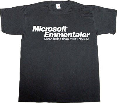 microsoft crap swiss cheese back door t-shirt ephemeral-t-shirts