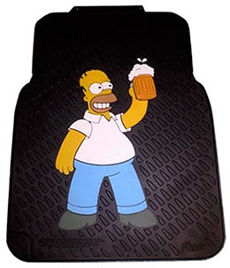 Tapetes para automovel do Homer