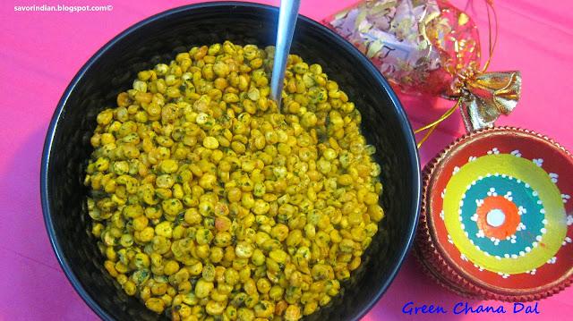 green chana dal /chatpati hari (green) chana dal -easy diwali snack