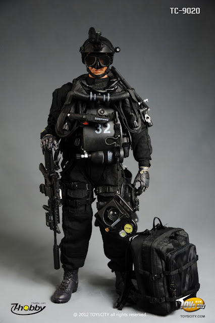 Toyhaven incoming toyscity 1 6 scale us navy seal sdvt 1 12 inch combat diver figure - Navy seal dive gear ...