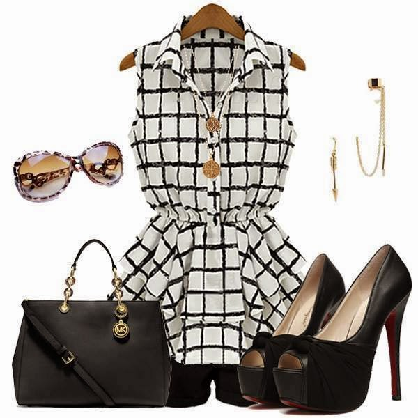Striped Sleveless Dress , Hand Bag, Cut Out Shoes, Earrings | Outfits