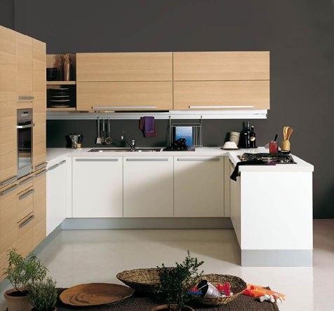 C mo distribuir el espacio en la cocina cocinas con estilo for Cocina blanca y madera