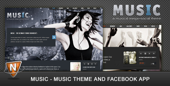 Image for Music – Musicians Theme & Facebook App by ThemeForest