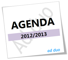 Agenda Ad duo 2012/2013
