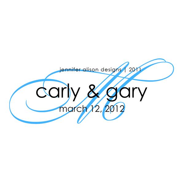 wedding monogram designs for Carly Gary wedding logo wedding monogram