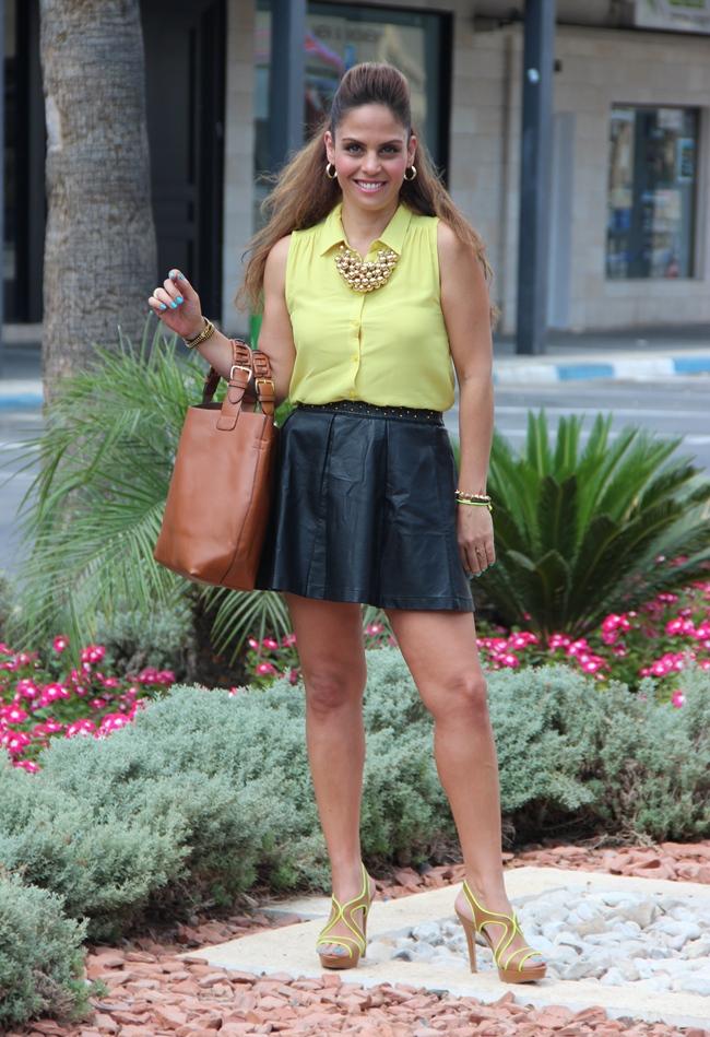 בלוג אופנה Vered'Style טרנד צהוב נאון