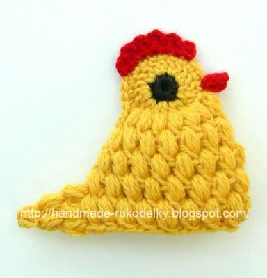 Hand Made Rukodelky Yellow Crocheted Chicken Free Pattern