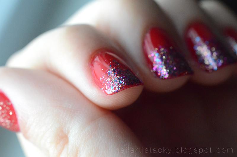 Glitter Gradient Nail Art
