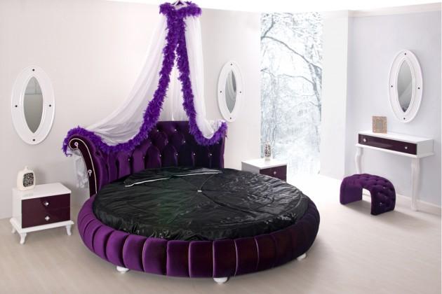 غرف نوم فاخرة مع تصاميم أسرة دائرية مذهلة   بوابة وادي فاطمة