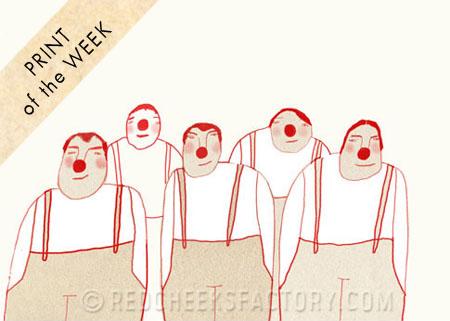 Red Cheeks Factory giclée art print of the week