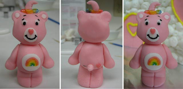 Care Bear Cloud Castle Cake - Close-Ups of Cheer Bear