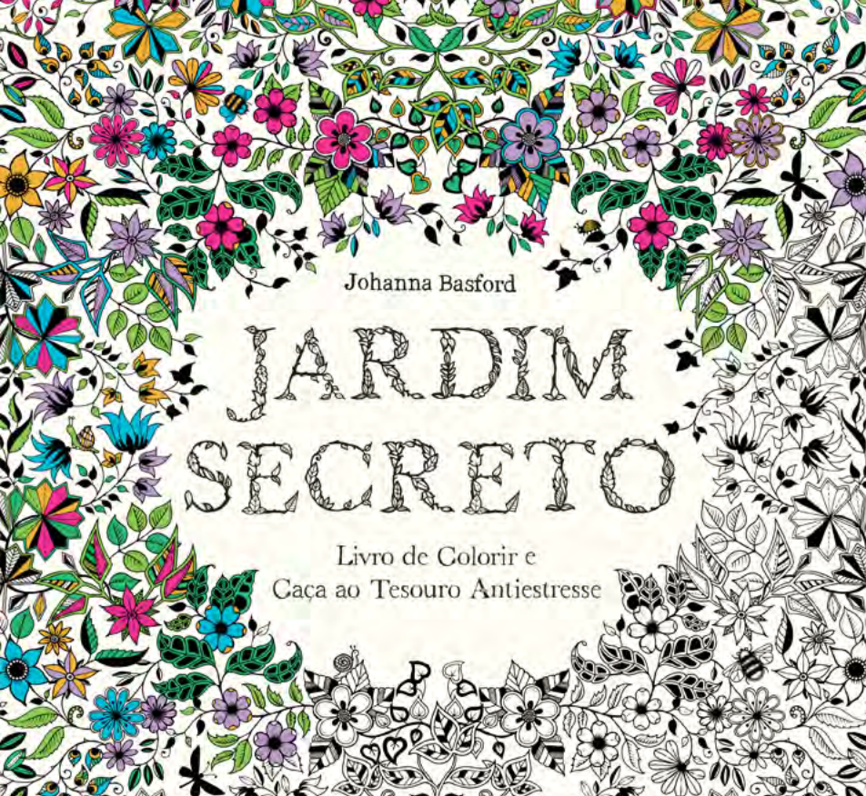 fotos do livro jardim secreto:Anti-Stress Therapy Coloring Book Art