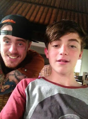 Greyson Chance in Bali with rapper Matt Colwell 2013