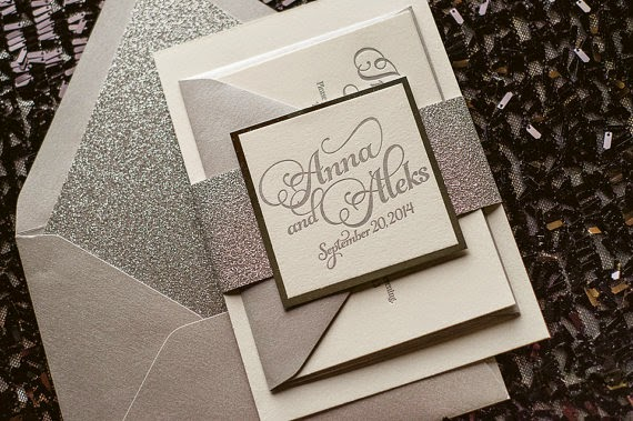 8 Glitter Glam Rustic Wedding Invitations