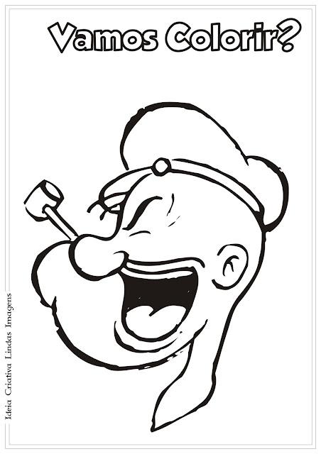 Popeye desenho para colorir