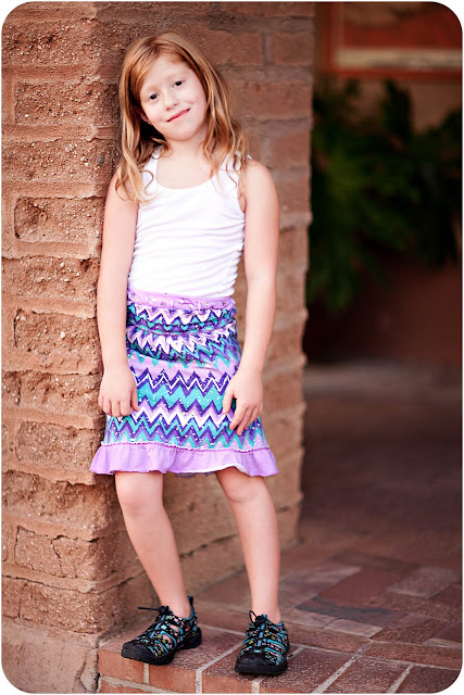 Oro Valley kid wearing an outfit she picked out for her portrait photo shoot
